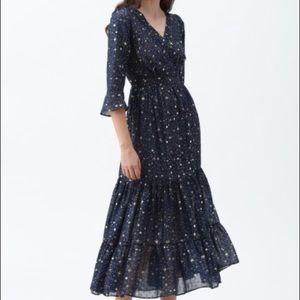 Chicwish Navy Blue Glory of Love maxi dress, Sz M